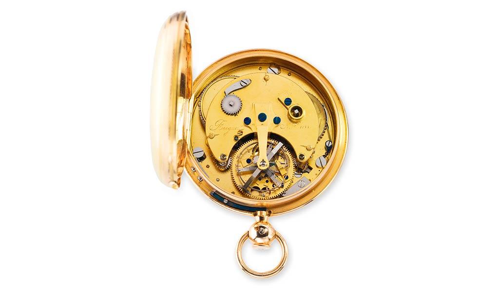 Карманные часы с турбийоном Бреге