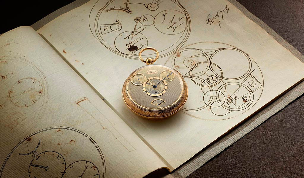 Механические часы с турбийоном Бреге