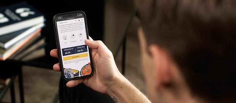 Компания Breitling представляет инновационную программу подписки на часы #BreitlingSelect