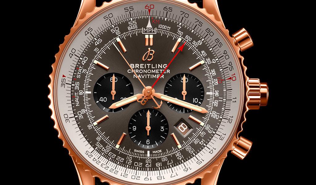 Часы хронограф Breitling Navitimer B03 Chronograph Rattrapante 45