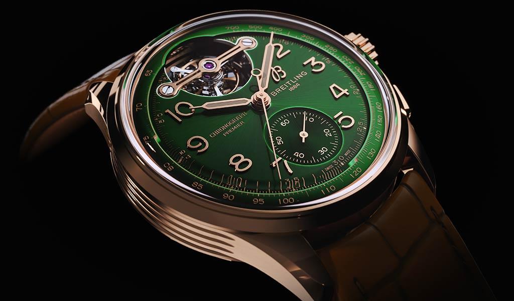 Новые швейцарские часы с турбийоном Breitling
