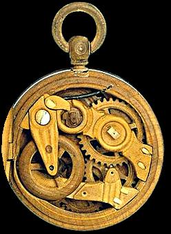 Часы с механизмом из дерева