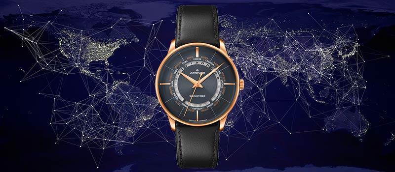 Механические часы с мировым временем Meister Worldtimer от компании Junghans