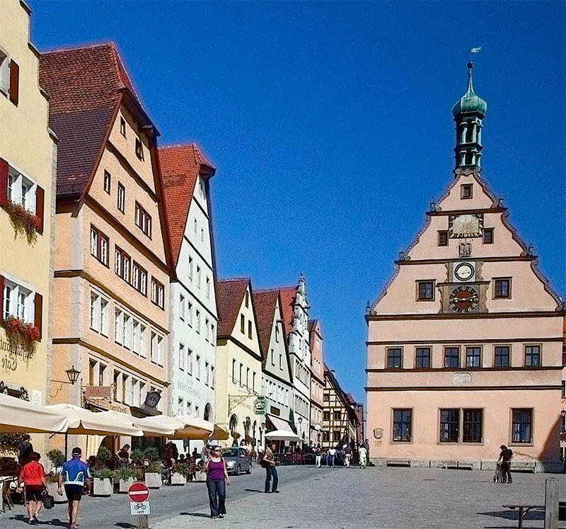 Город Ротенбург-об-дер-Таубер в Германии