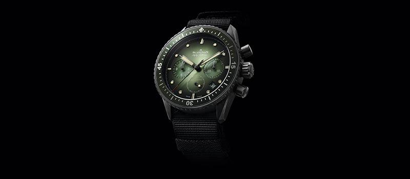 Наручные часы Bathyscaphe Chronographe Flyback приобретают зеленый цвет