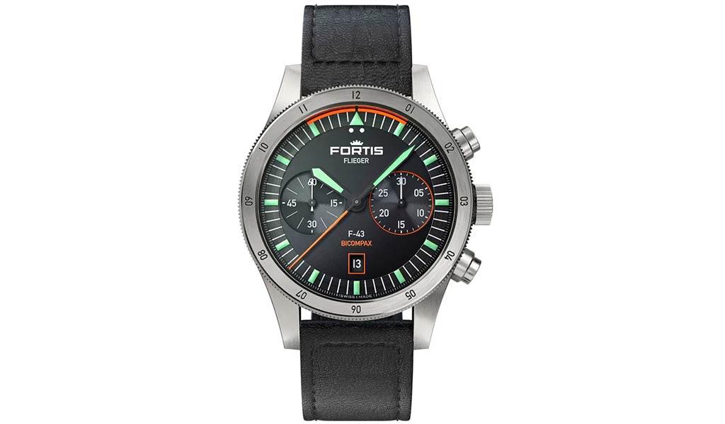 Часы хронограф Flieger F-43 Bicompax