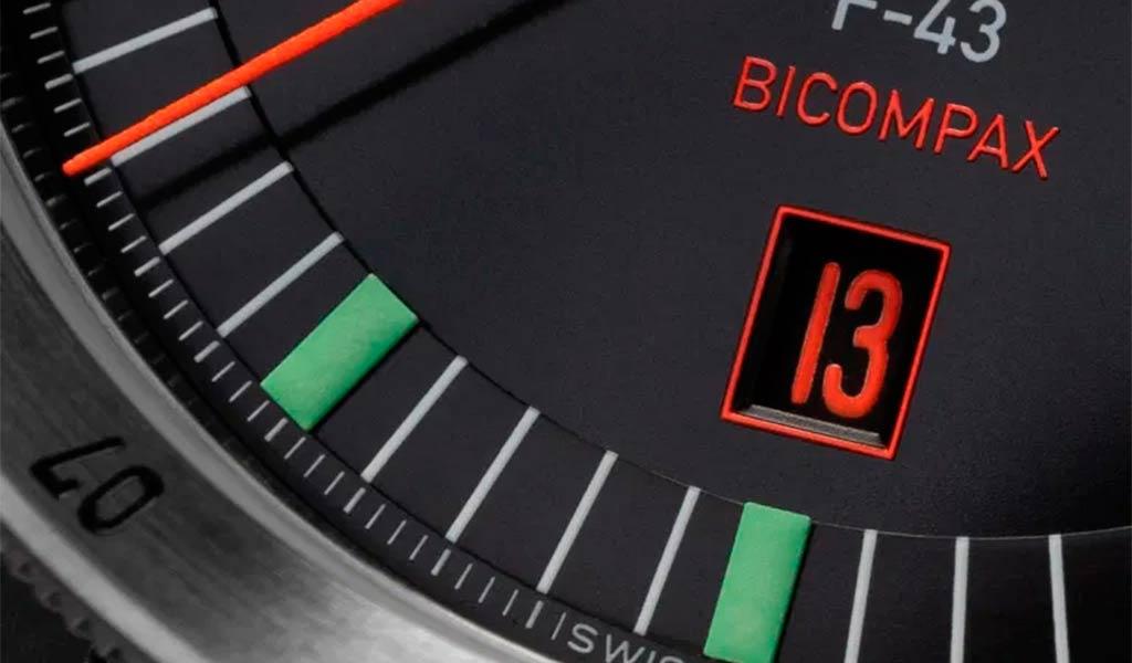 Часы пилот Flieger F-43 Bicompax