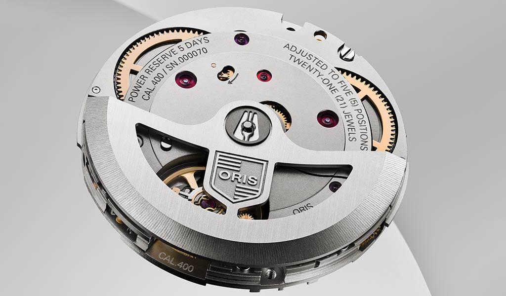 Новый часовой механизм Oris Calibre 400