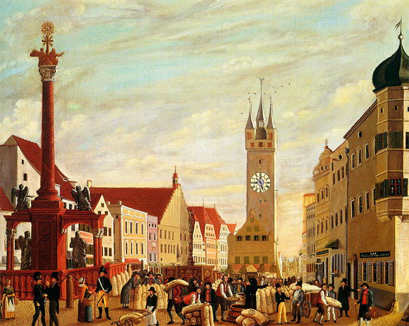Часовая башня Германия Штраубинг