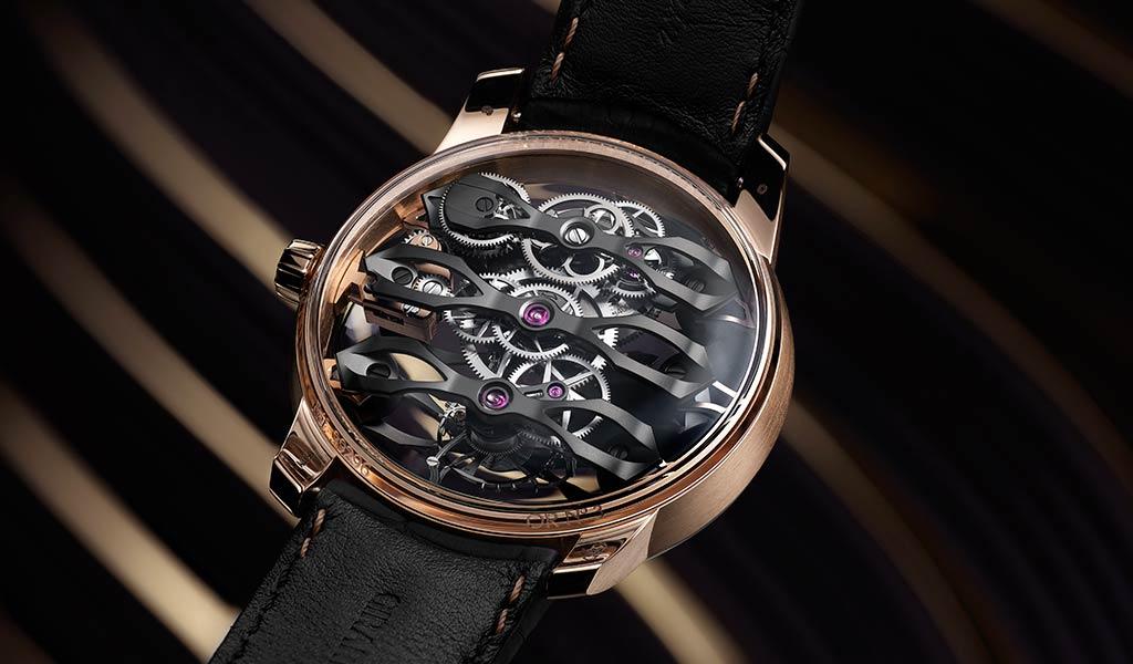 Новые наручные часы Tourbillon with Three Flying Bridges