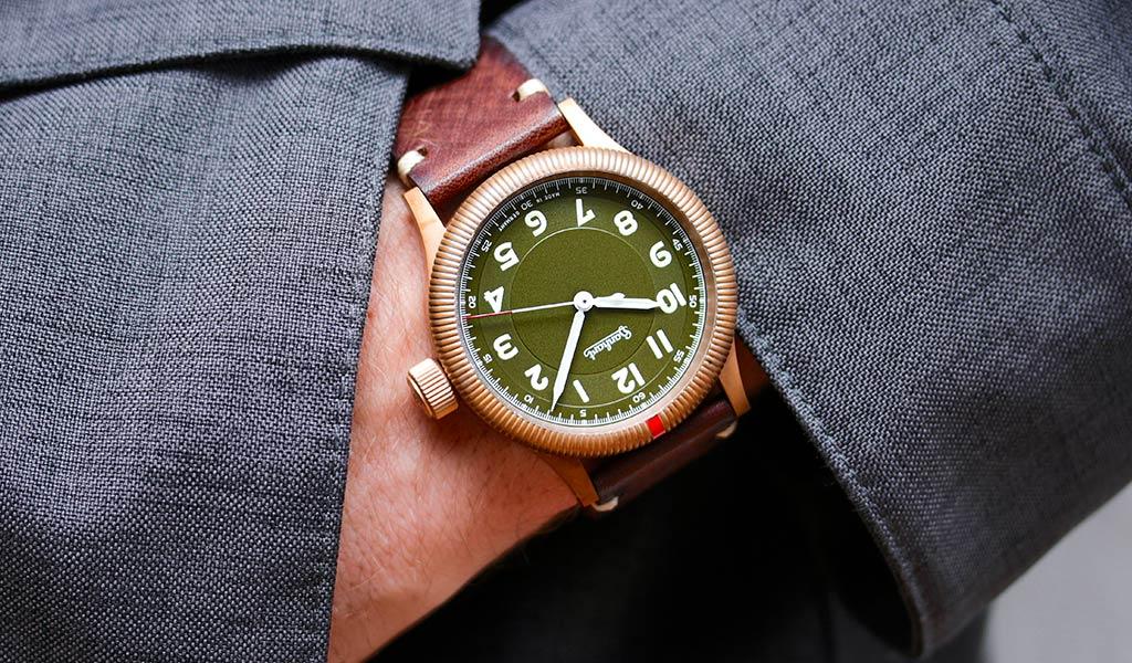немецкие часы Hanhart PIONEER One Bronze
