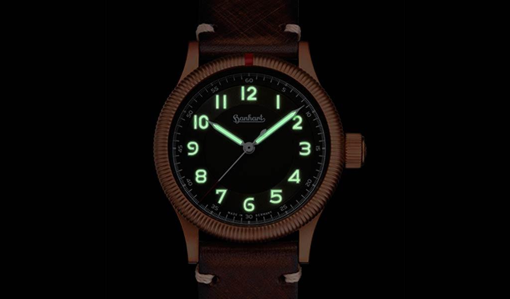 Немецкие механические часы Hanhart PIONEER One Bronze