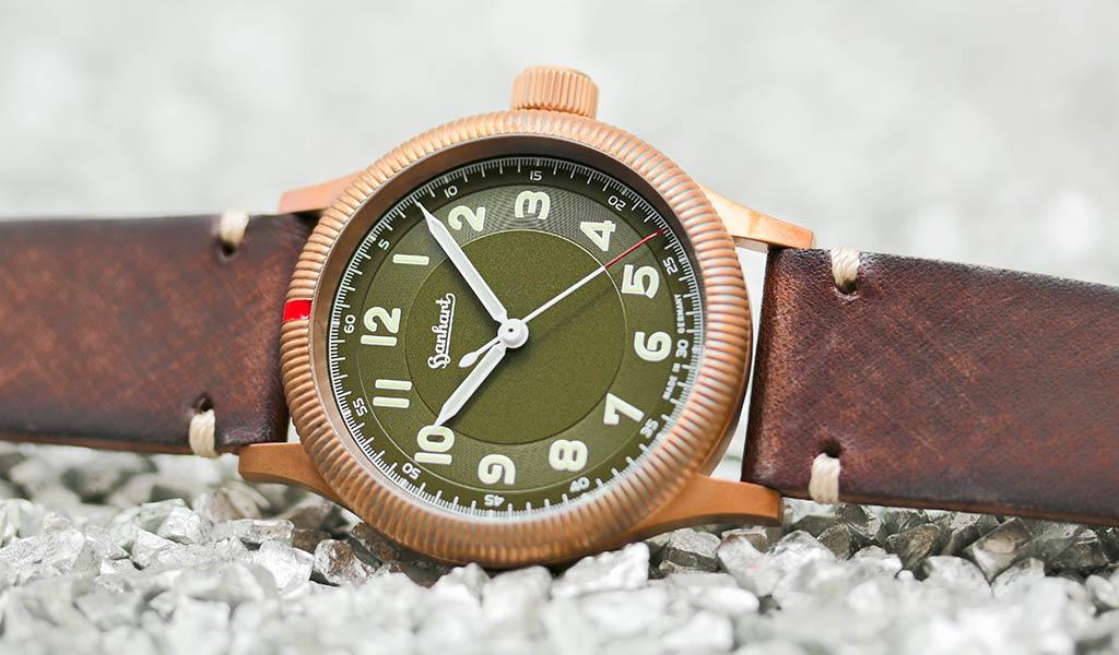 Немецкие мужские часы Hanhart PIONEER One Bronze