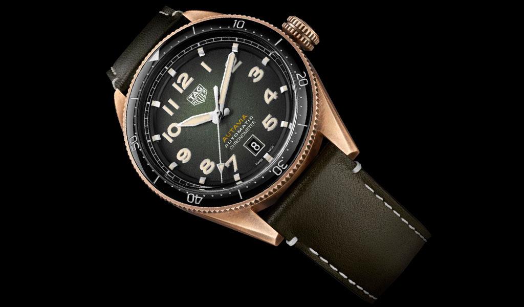 Наручные бронзовые часы TAG Heuer Autavia Bronze