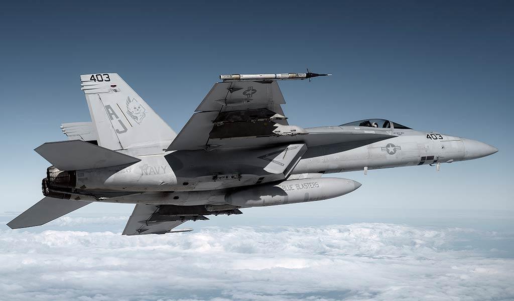 Военный самолет Super Hornet