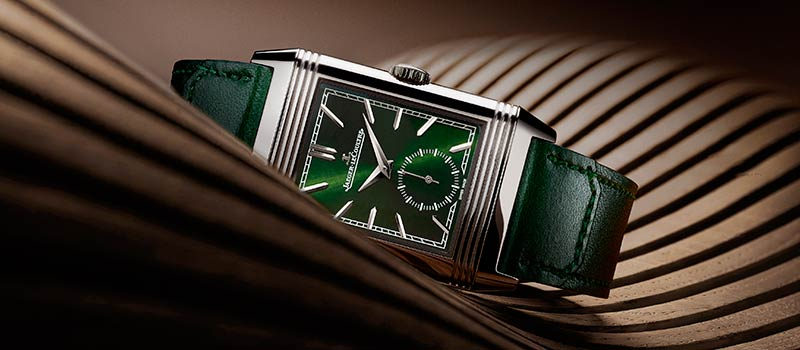 Jaeger-LeCoultre представляет часы Reverso Tribute Small Seconds в зеленом цвете