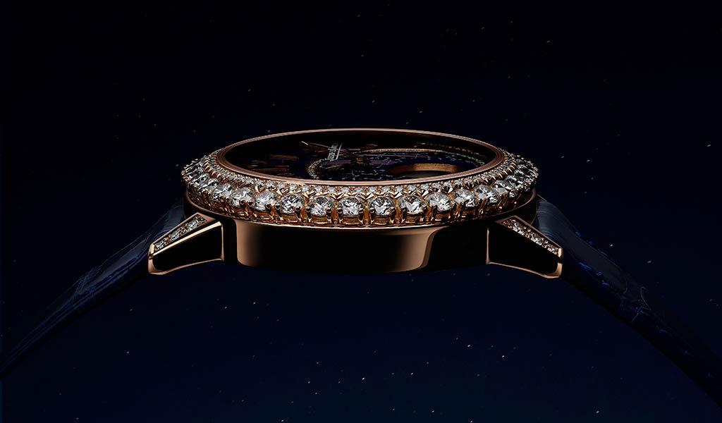Женские золотые часы с бриллиантами Rendez-Vous Dazzling Moon Lazura