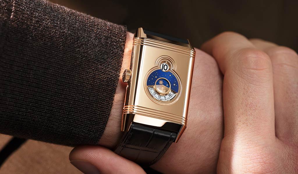 Швейцарские золотые часы Reverso Tribute Nonantieme