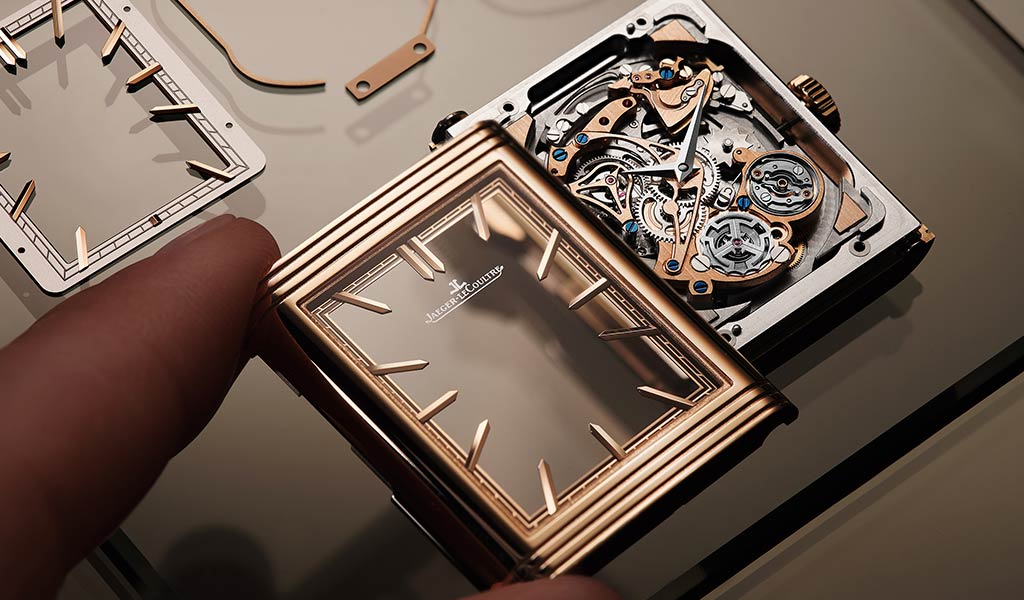 Швейцарские механические часы Reverso Tribute Minute Repeater