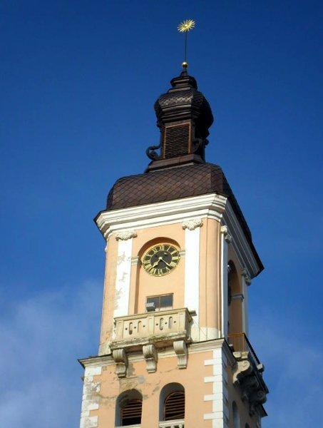 Часы на башне Каменец-Подольский