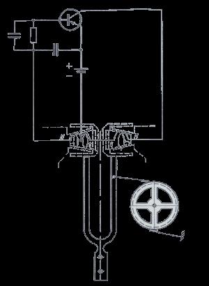 Электрическая схема часы с камертоном