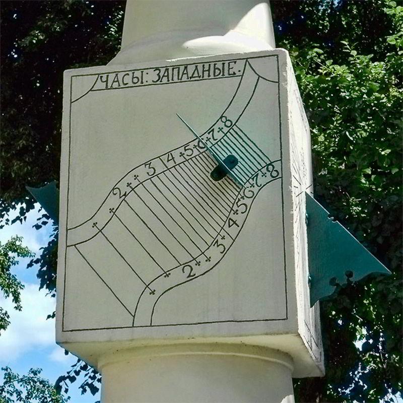Гномон вертикальные солнечные часы в Киеве на Подоле
