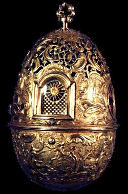 Часы яичной фигуры