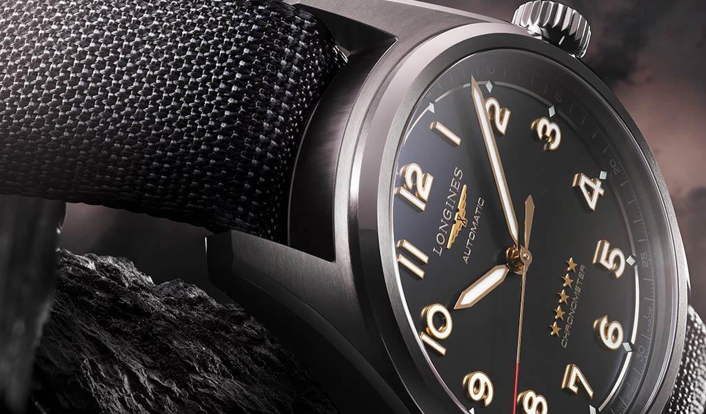 Швейцарские механические часы в титановом корпусе Longines Spirit