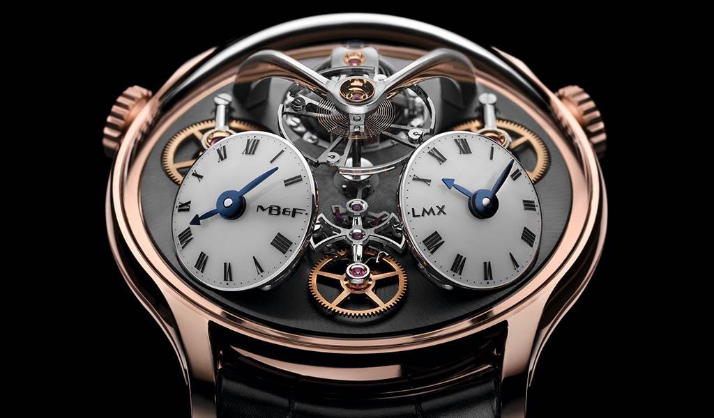 Часы с индикацией второго часового пояса MB&F
