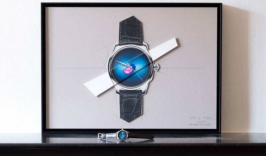Швейцарские наручные часы Endeavour Centre Seconds Concept X seconde/seconde/