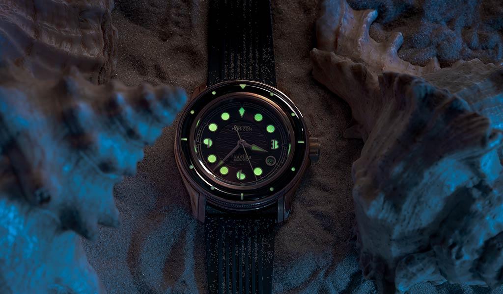 Механические часы для дайвинга Horizon Nautilus