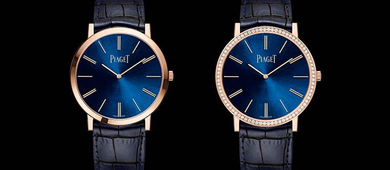 Ультратонкие наручные часы Piaget Altiplano Blue лимитированный выпуск