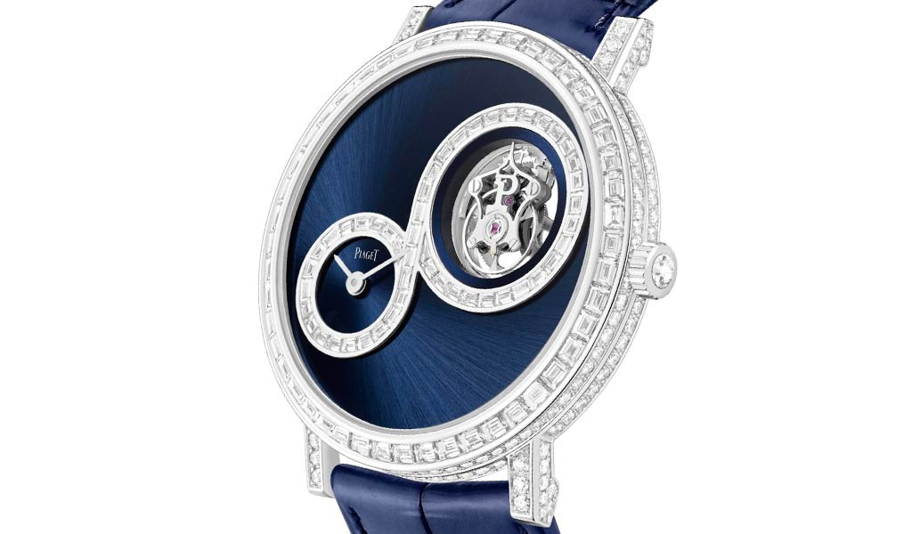 Золотые наручные часы Piaget Altiplano Tourbillon Infinite Blue