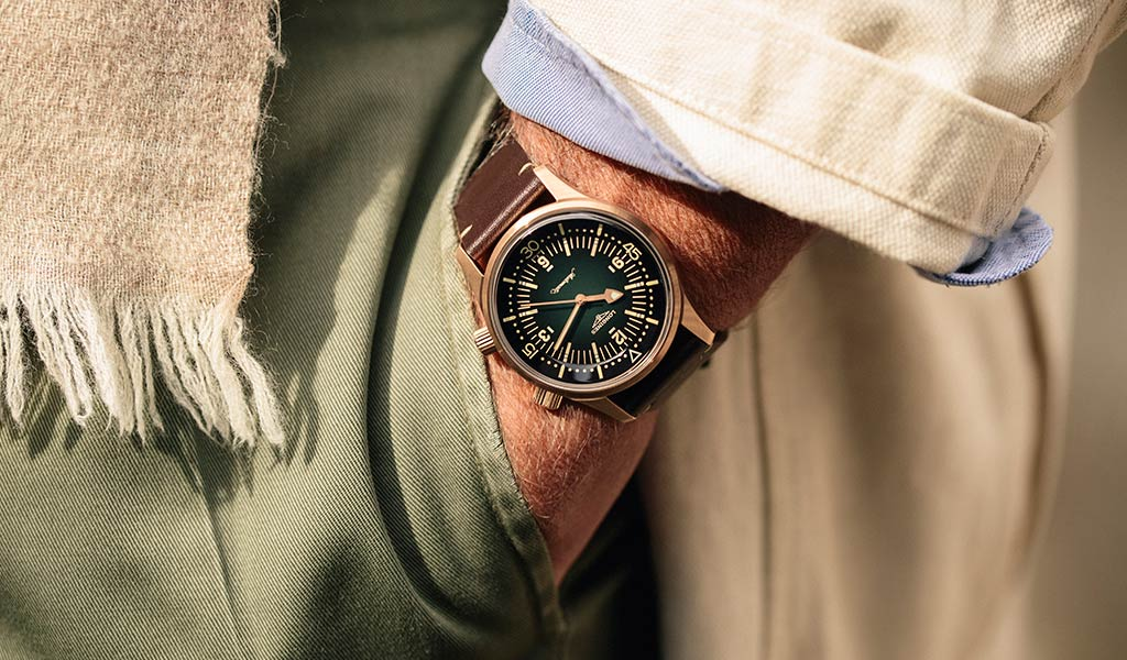 Часы из бронзы The Longines Legend Diver