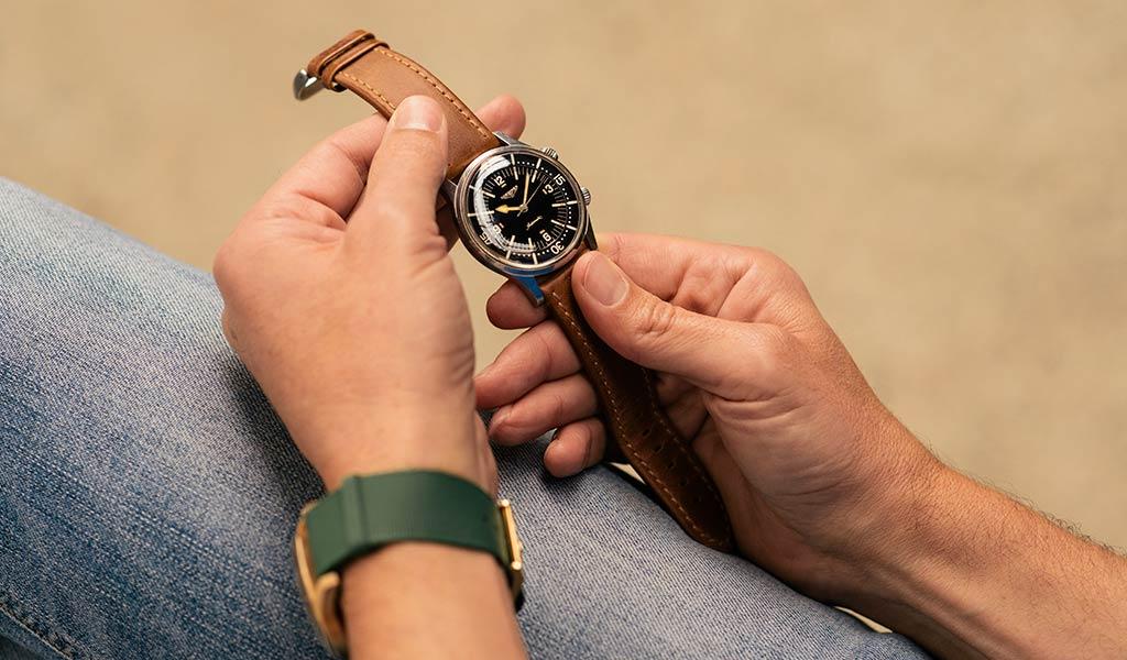 Бронзовые часы The Longines Legend Diver