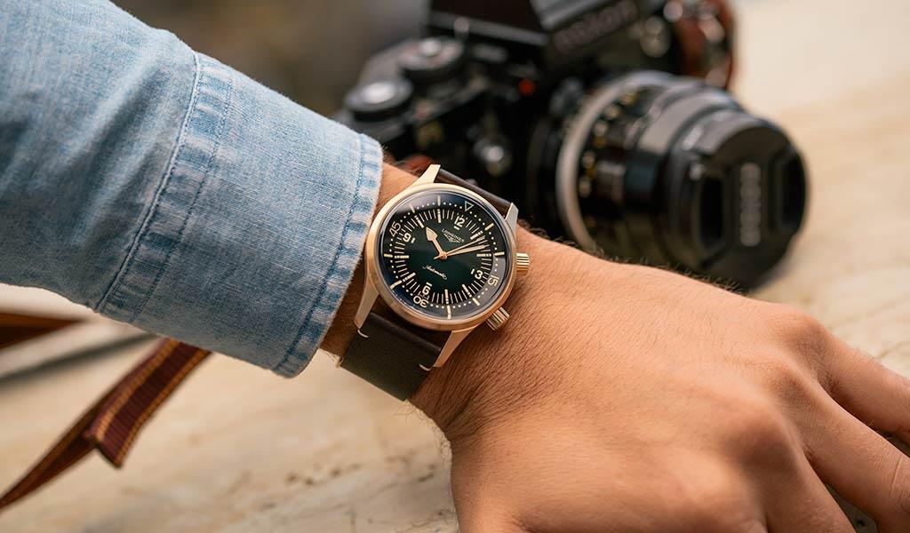 Бронзовый корпус часы The Longines Legend Diver