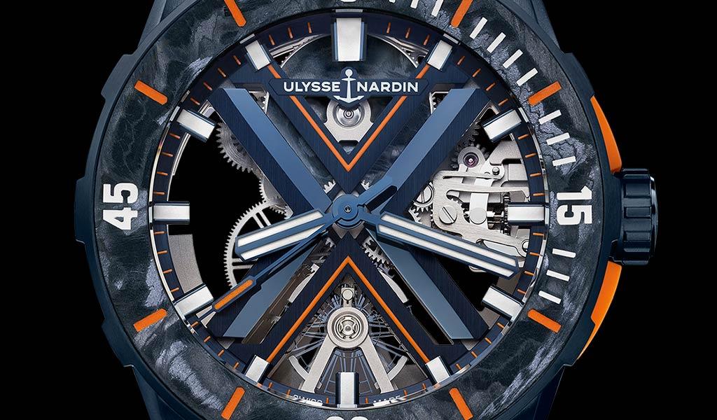 швейцарские часы скелетон Ulysse Nardin