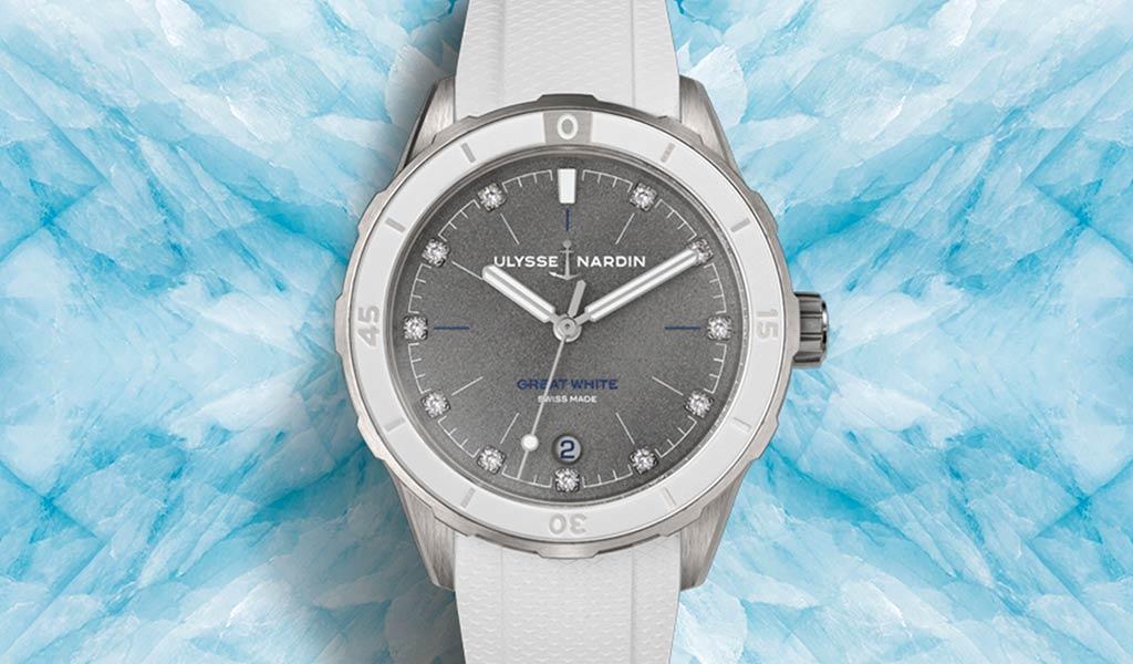 Новые механические часы Lady Diver Great White
