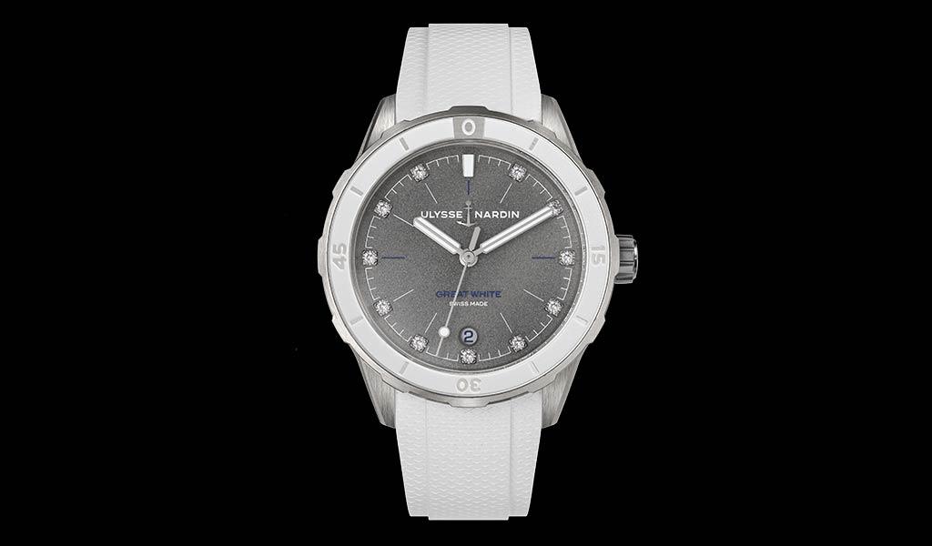 Новые наручные часы Lady Diver Great White