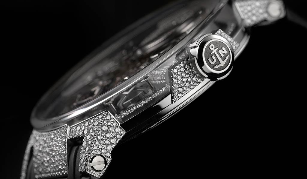 Инкрустация бриллиантами часы Ulysse Nardin