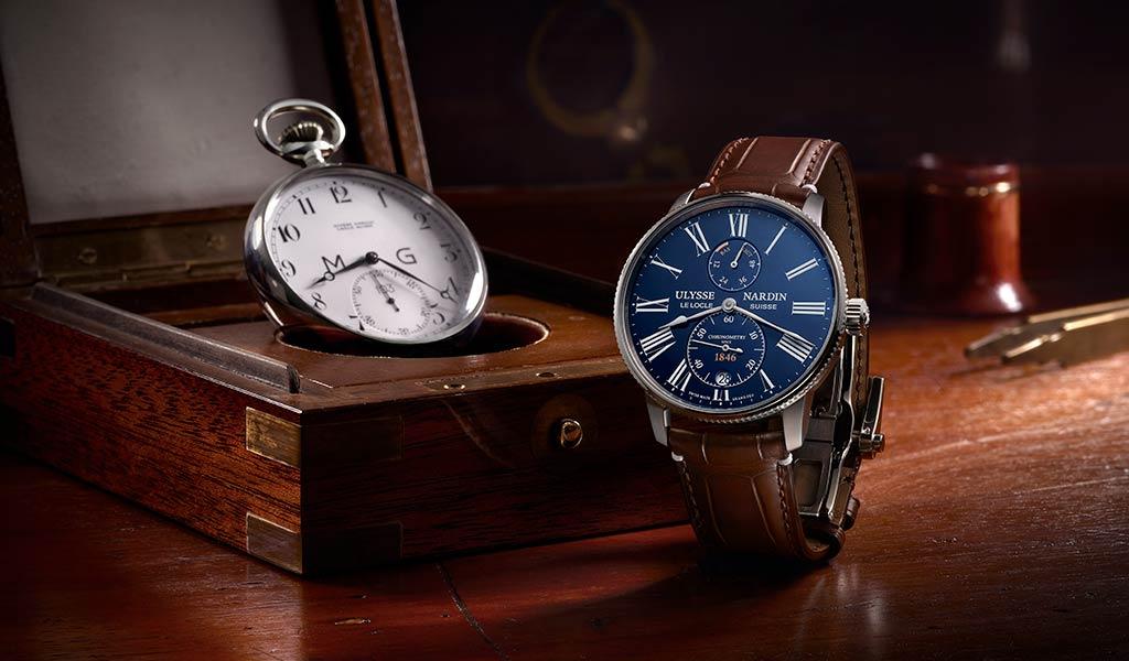 Новые швейцарские часы Marine Torpilleur Blue Enamel