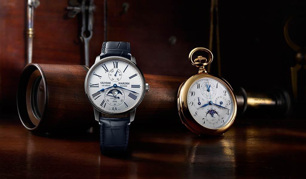Новые швейцарские часы Marine Torpilleur Moonphase