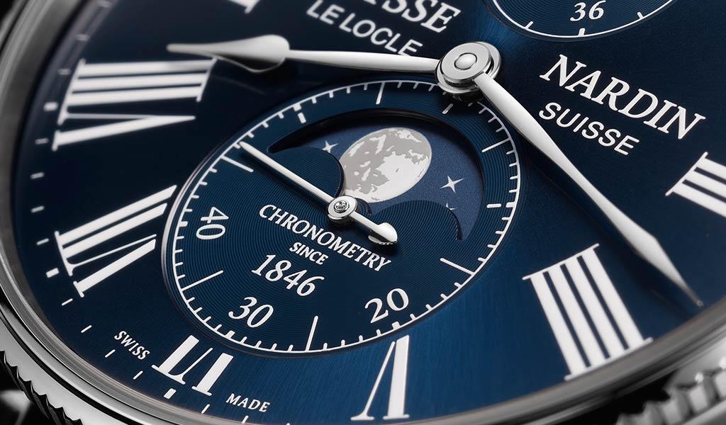 Швейцарские механические часы Marine Torpilleur Moonphase