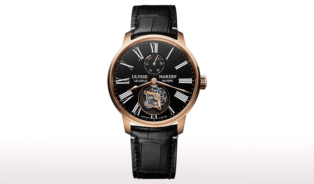 Швейцарские часы с турбийоном Marine Torpilleur Tourbillon Grand Feu