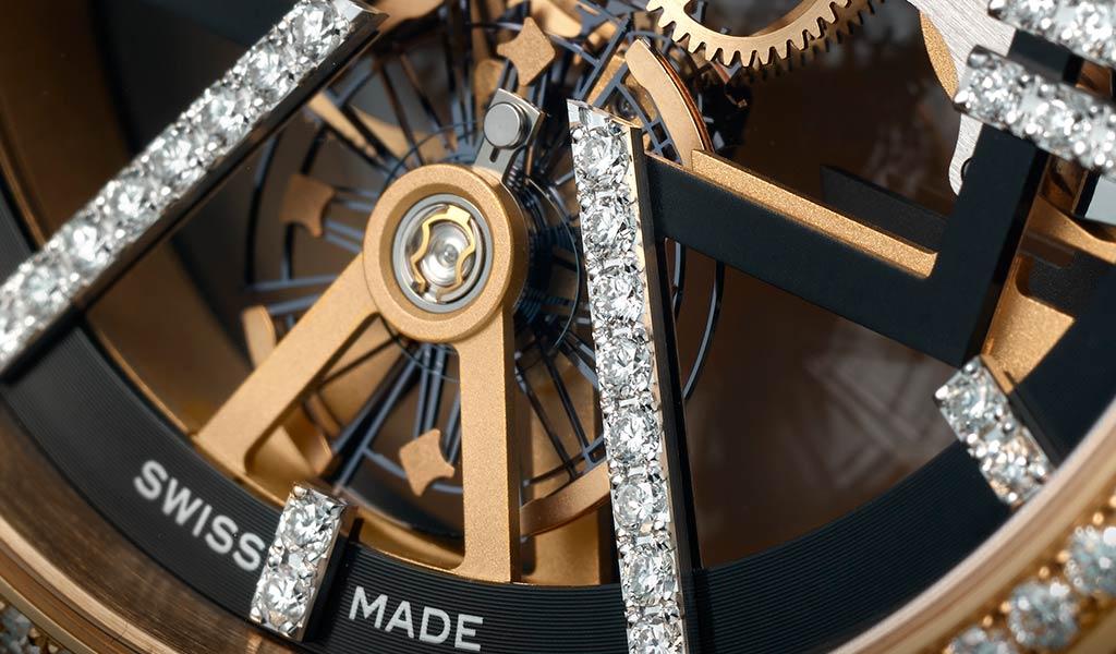 Механические наручные часы Skeleton X Sparkling