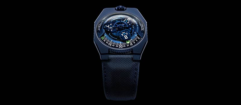 URWERK представляет UR-100V «Голубая планета»
