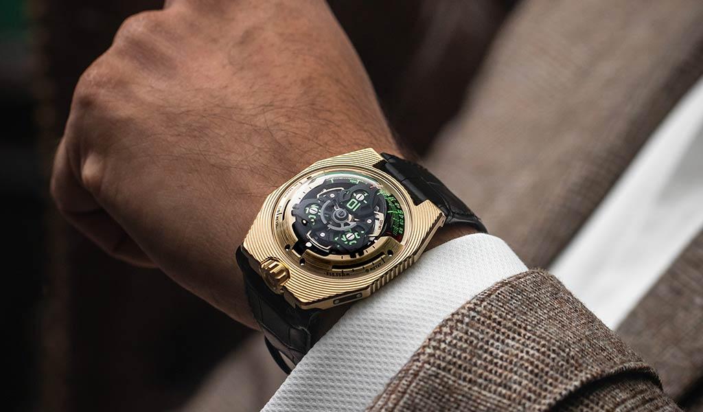 Новые швейцарские часы URWERK UR-100 Electrum