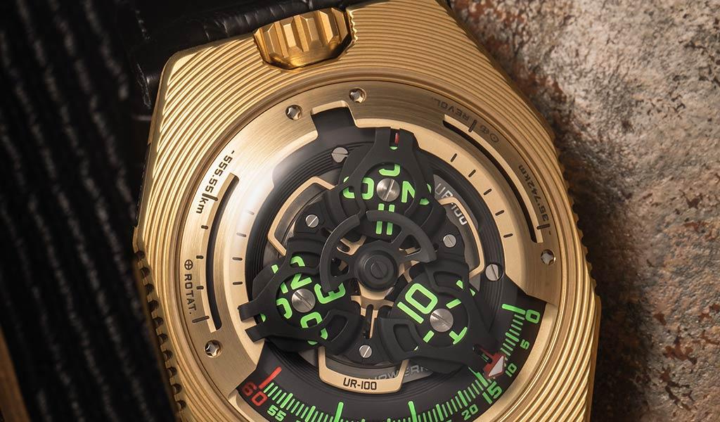 Швейцарские механические часы URWERK UR-100 Electrum
