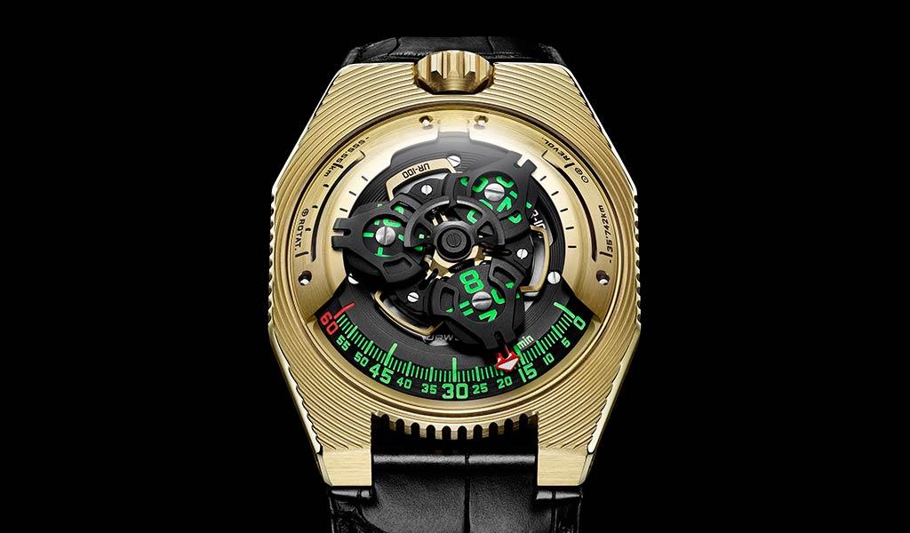 Новые швейцарские механические часы URWERK UR-100 Electrum
