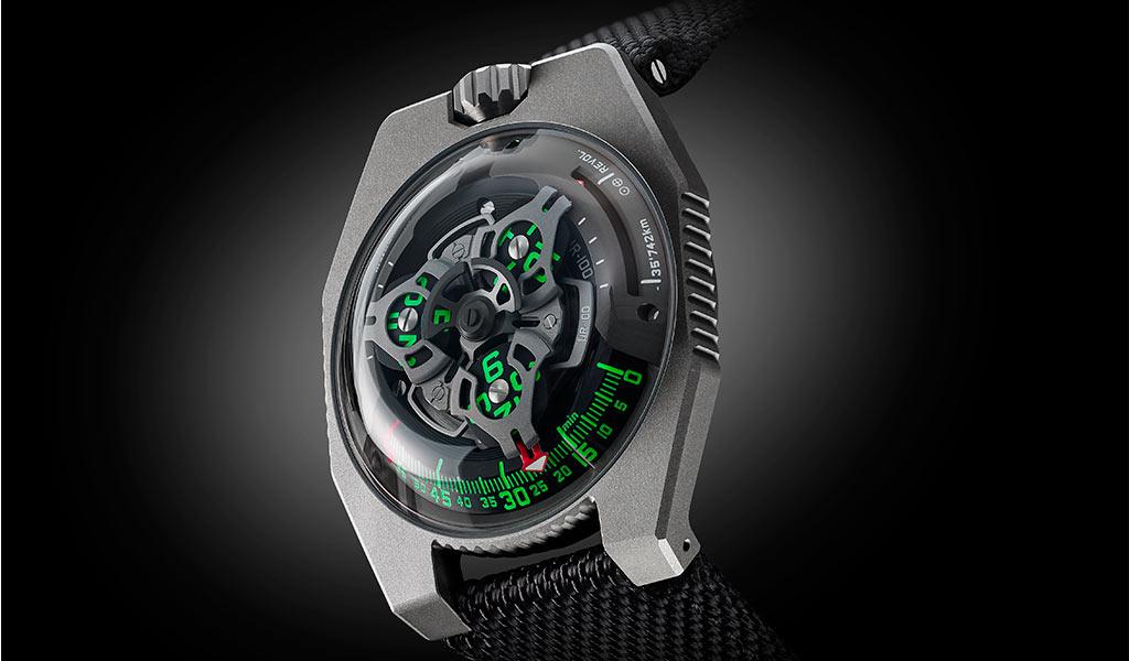 Наручные часы URWERK UR-100 GunMetal